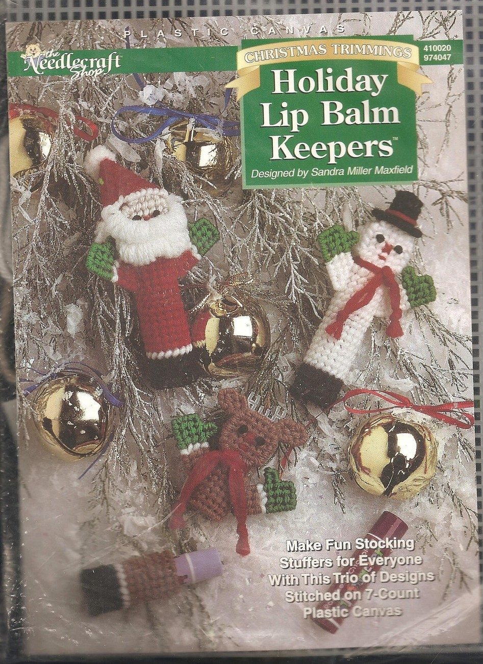 Primary image for CRAFTS Needlecraft Shop Christmas Trimmings Holiday Lip Balm Keepers Kit #410020