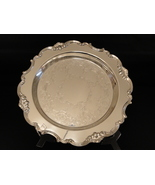 "Gorham Strasbourg YC3136 15"" Silverplate Ornate Scalloped Round Serving ... - $100.00"