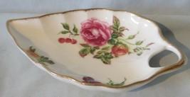 Royal Albert Harvest Rose Leaf Shapped Mint Dish - $19.69