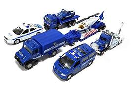 World Distributions Police Station Department Die-Cast Car Helicopter Tow Ladder