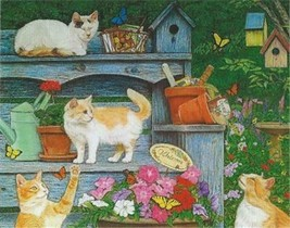 Cats & Butterflies Kittens 100 pc Bagged Boxless Jigsaw Puzzle NO BOX - $9.85