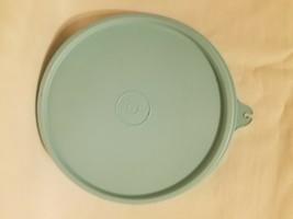 "Tupperware Replacement Lid Turquoise Aqua Blue  ""B"" Tab 5 3/4"" # 238 - $9.89"