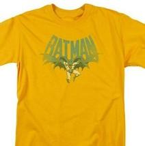 Batman T-shirt 80s comic book retro 80s cartoon DC gold graphic tee DCO730 image 1
