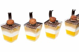 Square Dessert Cup - 4 Ounce - Durable Crystal Clear Plastic - 50 Count ... - $16.75
