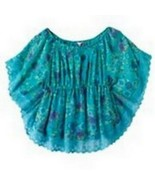 Candies Blue Floral Butterfly Lace Blouse Cami Top Set Girls 7-16 XL 16 - $19.98