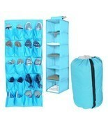 3pc Durable Aqua Storage Set Closet Hanging College Dorm Clothing Shoes ... - $892,46 MXN