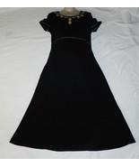 Coldwater Creek Size Petite Small Black Cotton Knit Dress - $14.99