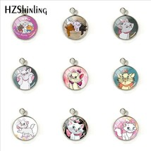 2019 New Fashion Marie Cartoon Pattern Glass Pendant The Aristocats Anim... - $7.54