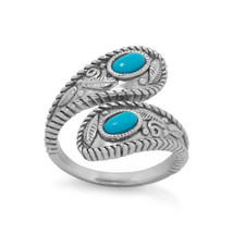 Sterling Silver Wrap Band Turquoise Ring - €35,80 EUR