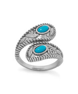 Sterling Silver Wrap Band Turquoise Ring - $42.99