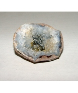 Agate Geode with Unicorn  Pewter Figure Embedded in It - $7.49