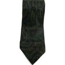 Geoffrey Beene Men's Necktie 100% Silk Green Paisley - $6.71