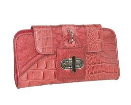 "MC Handbags ""Cindy"" Leather Croco Embossed Rose Hobo Bag - NEW MARKDOWN! image 2"