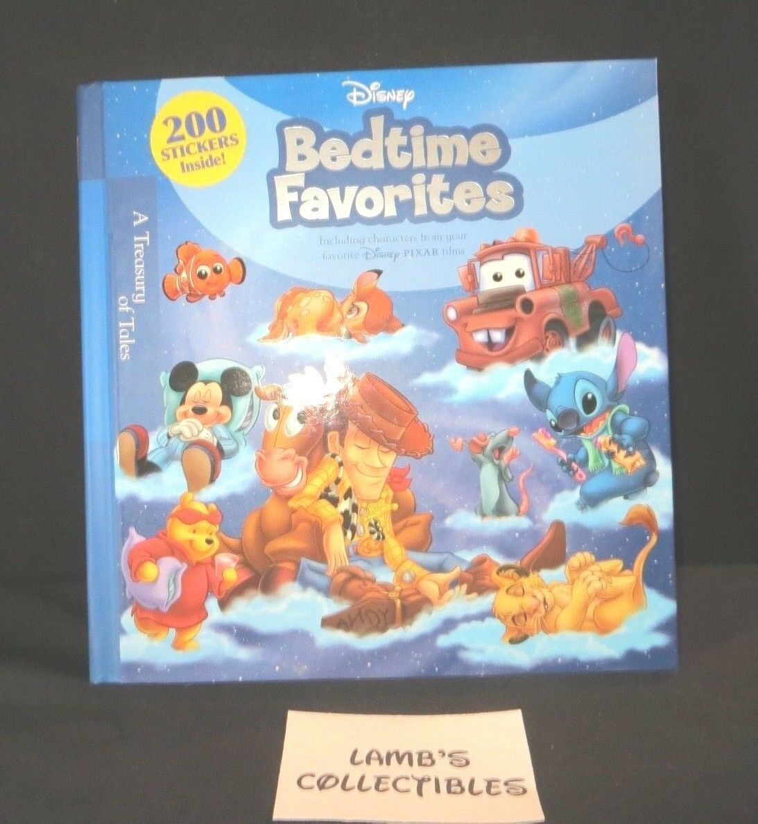 Primary image for Disney Bedtime Stories A Treasury of Tales 200 stickers included 1st Edition