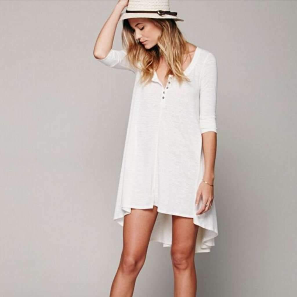 Loose Asymmetric High Low Women Dress