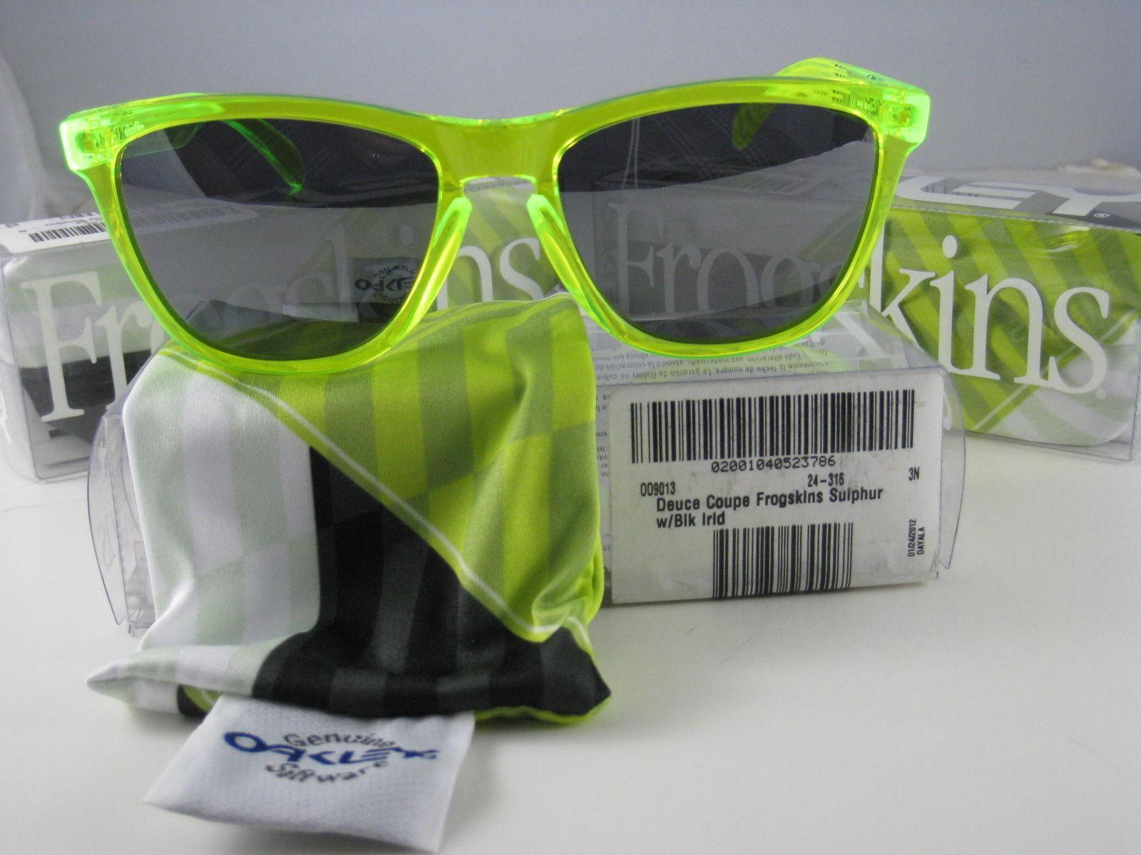 Oakley Frogskins Édition Limitée Deuce Coupe Soufre W/ Iridium Noir 24-316