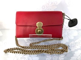 Ralph Lauren Red Leather Small Clutch - $399.88