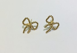Tiffany & Co. 18K Yellow Gold Twist Bow Stud Earrings - $470.00
