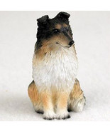 SHELTIE SABLE TINY ONES DOG Figurine Statue Pet Lovers Gift Resin Tricolor - $8.99