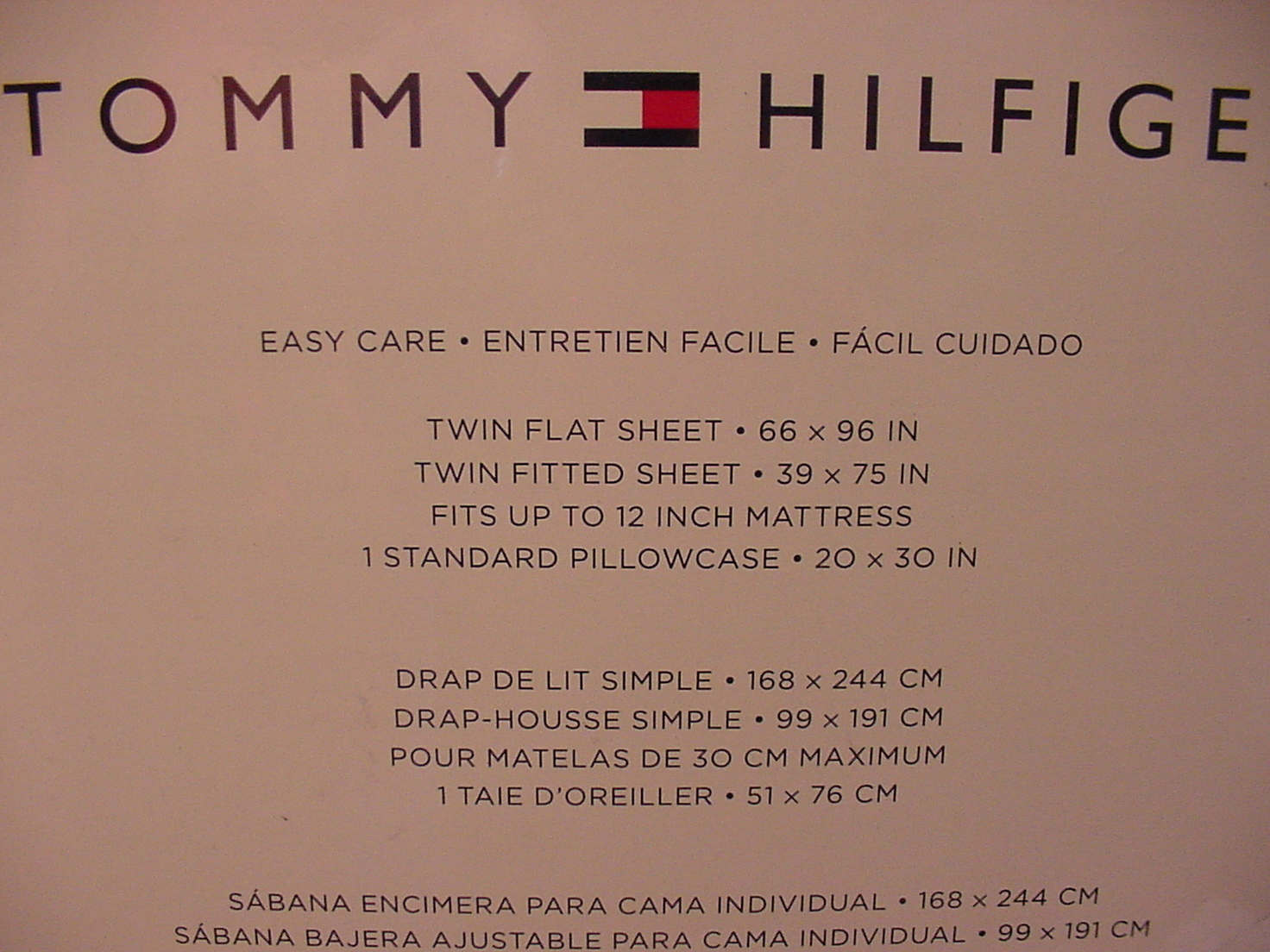 Tommy Hilfiger Navy Polka Dots on White Sheet Set Twin