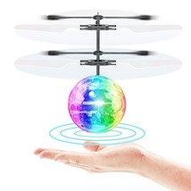 Flying Toy Ball Infrared Induction RC Flying Toy Built-in LED Light Disc... - $19.58