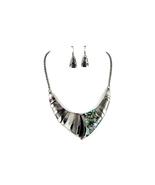 Black Vintage Acrylic Stone Collar Necklace & Earring Set - $21.95