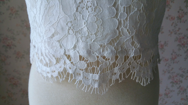 Lace top v neck 5