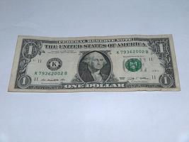 2009 $1 Dollar Bill US Bank Note Year Date Birthday 7936 2002 Fancy Mone... - $13.78