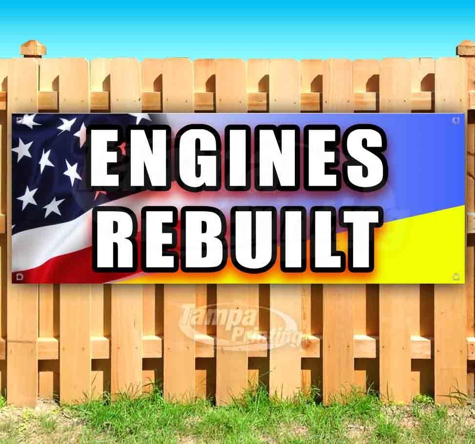 Primary image for ENGINES REBUILT Advertising Vinyl Banner Flag Sign Many Sizes MECHANIC REPAIR
