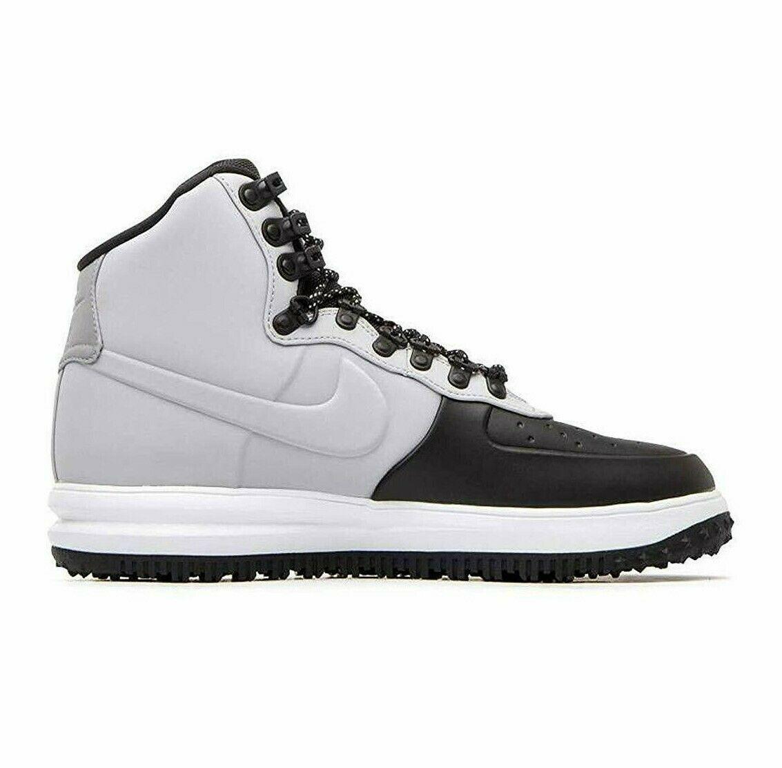 Nike Lunar Force Duckboot Air Force 1 High Wolf Grey Black BQ7930 002 Mens 10.5