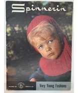 Vintage 60s Spinnerin Knit Child Pattern Book VERY YOUNG FASHIONS # 169 - $13.86