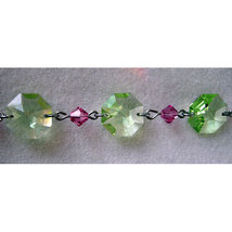 Silver Crystal Octagon and Bead Bracelet image 1