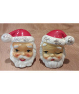 Vintage Christmas Santa Claus Salt & Pepper Shaker Set - Hallmarked Japan - $19.55 CAD