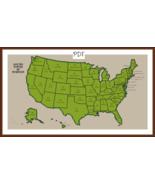Cross Stitch Pattern Map of the USA, United States Cross Stitch Chart PDF - $3.32