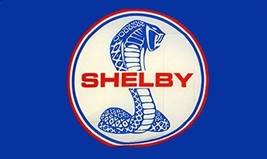 Shelby Mustang Blue 3 x 5 ft logo flag w/grommets - $23.00
