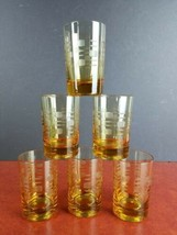 "6 vintage Rocks Old Traditional Glasses 5oz low ball 3.5"" barware man ca... - $19.00"
