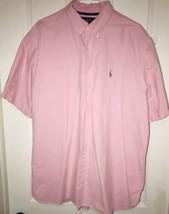 Polo Ralph Lauren Men's Casual Dress Shirt XXL Pink Oxford Short Sleeve - $36.62