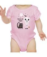 Trick-Or-Treat Skeleton Black Cat Baby Pink Bodysuit - $13.99