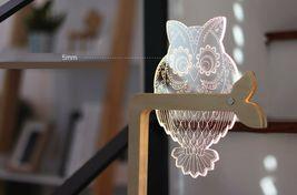 Mooas USB Wired Acryl LED Owl Night Mood Lights Lighting Lamp Indoor Interior image 5