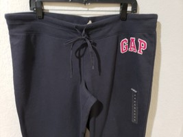 NWT Womens GAP Charcoal Gray Logo Lounge Sweatpants XL - $29.99