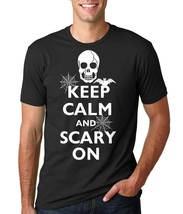 Halloween T-shirt Keep Calm And Scary On Party T-shirt Halloween Costume... - $22.99+