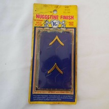 Nuggetine Finish 24 Karat Gold Plated Army Private Pins New Old Stock Ira Green - $12.58
