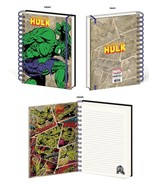The Hulk Retro Design Marvel Comics Lined Spiral Journal Notebook Licensed - $13.85