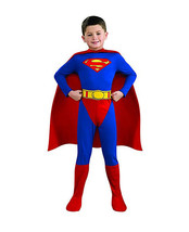 OFFICIALLY LICENSED DC COMICS SUPERMAN HALLOWEEN COSTUME BOY'S SIZE MEDI... - $26.76