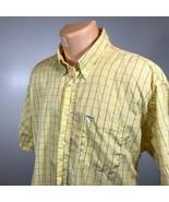 Bobby Jones XL Golf Mens Shirt Yellow Short Sleeve Button Down Size XL - $23.23