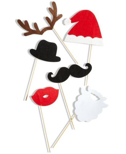 Holiday Lane Set Of 6 Christmas Photo Booth Props
