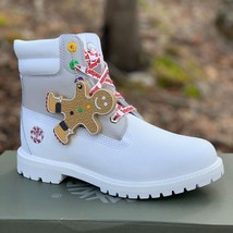 "Timberland Women's Premium 6"" White Leather Boots A1U67 Limited Edition - $179.99"