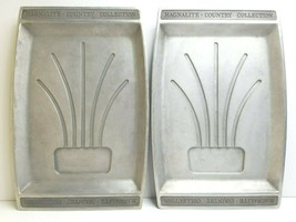 2 Magnalite Country Collection VTG Cast Aluminum Tray Platters Wagner Wa... - $98.67