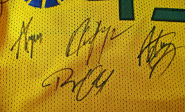 UTAH JAZZ / 2018 TEAM SIGNED YELLOW CUSTOM JERSEY / 13 SIGNATURES / FULL LOA image 4