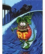 Surfing Rat Fink Surfer Big Daddy Ed Roth Metal Sign - £25.80 GBP